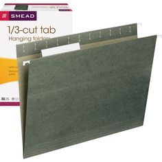 Smead Hanging File Folders 1/3 Tab Letter Green 25ct