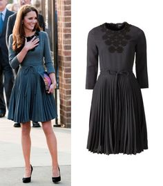 Kate in another Orla Kiely dress in March 2012 - Prince Charles and Kate visited the Dulwich Gallery