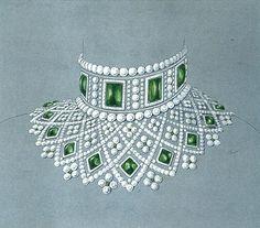 Fabergé necklace designed for the Romanov family, ca. 1885.