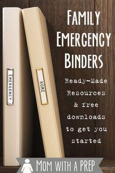Family Emergency Binder, In Case Of Emergency, Emergency Kit For Home, Emergency Binder Free Printables, Emergency Preparedness Kit, Emergency Preparation, Emergency Planning, Emergency Supplies, Emergency Food