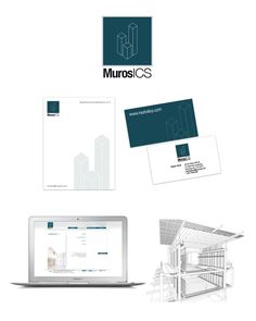 #logo #identity #branding #blanconegro #murosics #ingenieria #constructiva #sustentable