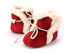 VOULOIR Girls Winter Warm Snow Boot ( Red Large ).