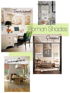 Roman Shades.