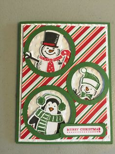 Stampin' Up! Snow Place Card
