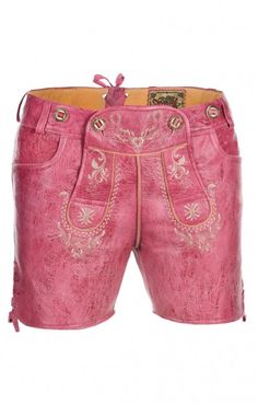 Traditional Trachten LEATHER SHORTS Jane pinklady
