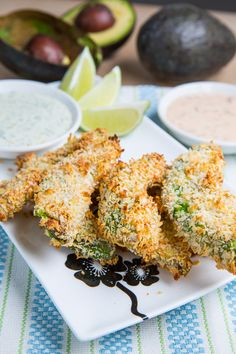Crispy Baked Avocado Fries....and a  whole  buncha other  veggie fry recipes...yummo