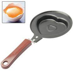 [$1.56] Mini Valentine Heart Shaped Omelette Omelet Egg Frying Pan(Black)