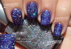 Wet n Wild Nail Color in Kaleidoscope - A Sheer Silver Glitter layered over Wild Orchid