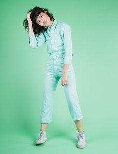 Everyday Jumpsuit - Mint Green – BIG BUD PRESS