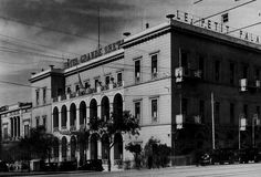 """""""Grande Bretagne"""" hotel in Athens Old Photos, Vintage Photos, History Photos, Athens Greece, Day Trip, Best Hotels, Places To Travel, Street View, Black And White"""
