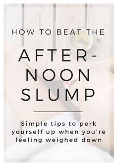 If you're having trouble focusing after lunch, here are some tips to beat the afternoon slump. College students feel stressed often, so these tips are great for pushing through those sluggish times.