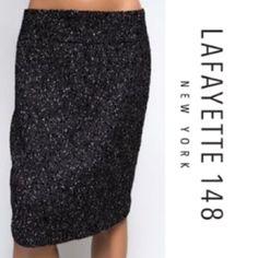 Gorgeous Metallic Shimmer Wool Pencil Skirt
