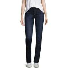 d868378c29a55 AG Harper Straight Jeans ( 134) ❤ liked on Polyvore featuring jeans