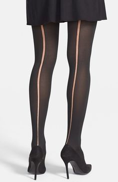 Via Spiga Sheer Back Seam Tights available at #Nordstrom- $15