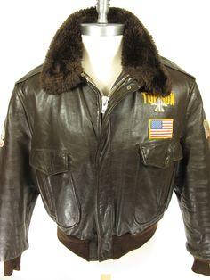 Vintage | Brill Bros 1973 Vietnam Type B1 leather flight bomber ...
