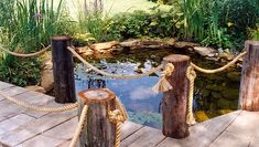 Pete Sims -Natural pond lined with stone