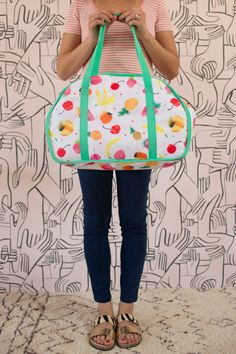 fruit-patterned insulated bag (and on sale now!)
