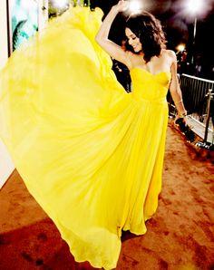 love everything yellow, esp this dress