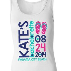 bachelorette party tank tops - beach / fun bright colors personalized bachelorette party shirts