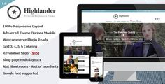 Highlander – Multipurpose Ecommerce Theme, is a fully responsive multipurpose Ecommerce theme that can be purposed for any kind of website.