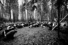 Mari Pagans praying in a sacred grove  in Russia. »« by Tatiana Plotnikova in the New York Times