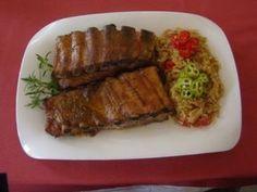 Costite picante la cuptor cu varza calita, poza 1 20 Min, Paleo Diet, Meatloaf, Steak, Food And Drink, Beef, Decor Ideas, Mariana, Romanian Recipes