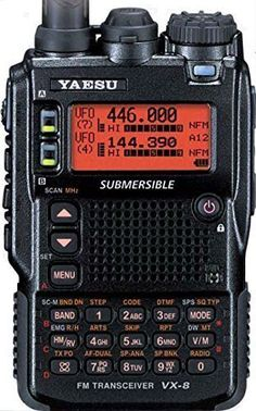 Yaesu Vx-8Dr Multi-Band Submersible Vhf/Uhf Amateur Radio Transceiver, 2015 Amazon Top Rated Two-Way Radios #CE