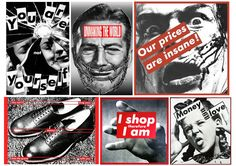 Barbara Kruger is an American conceptual artist who combines conceptual art and pop art to produce her bold pieces. Kruger's work is very bold and graphical ...
