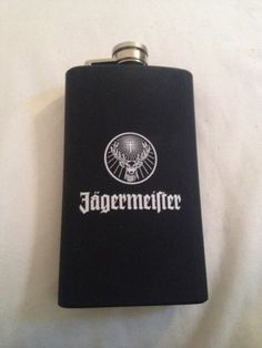 Jagermeister Black Flask Stainless Brand New