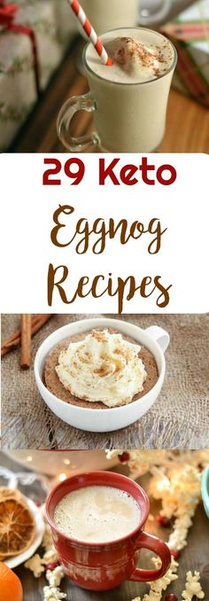 29 Keto Eggnog Recipes | Peace Love and Low Carb via @PeaceLoveLoCarb