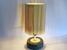 Chopsticks lampshade (it'd look great for a hanging lampshade too)