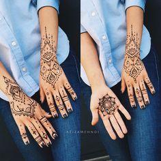 Henna gloves and lil mandala for lovely and cute @polushina  Вот я не очень люблю коллажи, но тут такое дело...)))) На субботу-воскресенье есть время чтобы сделать что-то подобное, пишите в whatsaap  #AzizaMehndi