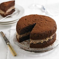 Chocolate and Hazelnut Victoria Sandwich - Woman And Home