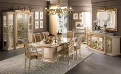 French Style Furniture Classic French Chairs, Classic Benches, Sofas and Settees, French Tables, French Chests Italian Furniture Design, French Furniture, Classic Furniture, Luxury Furniture, Classic Dining Room, Luxury Dining Room, Esstisch Design, Style Louis Xv, Dining Table Design