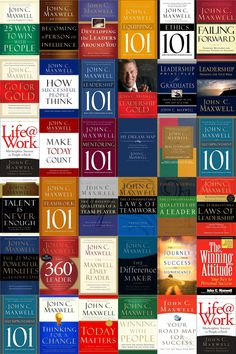 John Maxwell: GREAT books on LEADERSHIP - John Maxwell is the Leadership Trainer for my Mentorship Group. If YOU want to learn, grow with great mentorship give me a call. We look for people who want to make a difference, to impact lives. Great Books To Read, Good Books, My Books, Free Books, John Maxwell Books, John Maxwell Leadership, Entrepreneur Books, Personal Development Books, Leadership Development