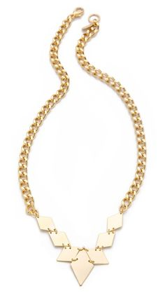 Jene DeSpain Smith Necklace: The geometric shape adds polish and edge to any outfit.