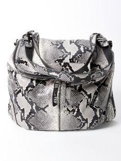 Oryany Grey Snakeskin Shoulder Bag Pin it to Win it Animal Print Belts, Online Boutique Stores, Bag Pins, Straw Handbags, Snake Print, Bucket Bag, Beautiful Things, Purses And Bags, Clutches