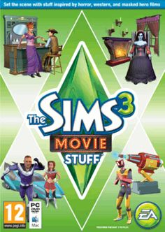 The Sims 3 - Movie Stuff PC Games Cover Art