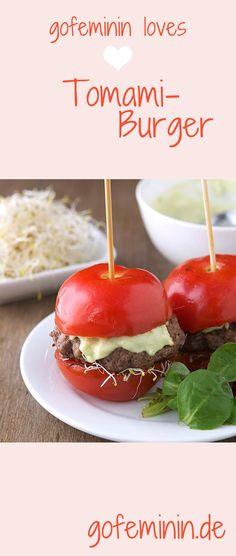 Kennt ihr schon die Low carb Sensation des Sommers? Wir präsentieren: den Tomami-Burger: http://www.gofeminin.de/kochen-backen/tomami-burger-s1519048.html  #tomamiburger