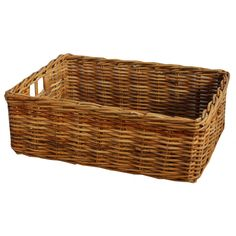 Rectangular Honey Rattan Wicker Storage Baskets
