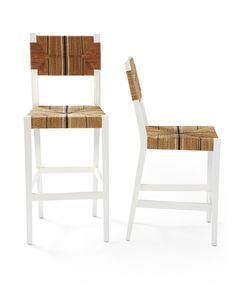 A classic 1930s rattan European bistro chair, great for the kitchen island, via @sarahsarna.