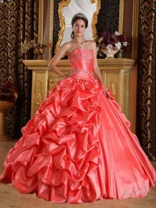 da0b64c5c0 2013 Hot Watermelon Red Sweetheart Embroidery and Beading Quince Dress Sweet  15 Dresses