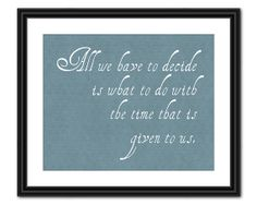 Lord of the Rings Quote Art - Inspirational Quote - 8x10 - Instant Download