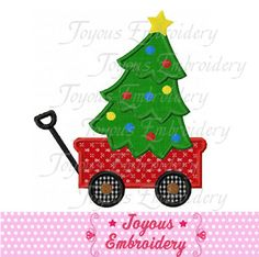 Instant Download Christmas Wagon Tree