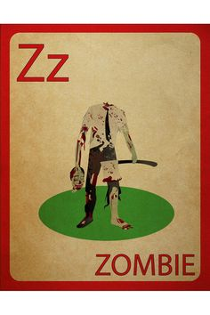 Zombie Flashcard Poster