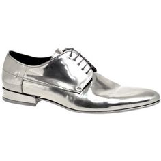 promo code 5697d eb806  Hugo  Boss high shine metallic  silver  shoe
