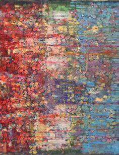 Flowers - Acrylic on Canvas  115 cm x 97