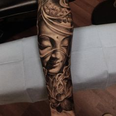 "1,128 Likes, 28 Comments - Toronto Original Art (@jtattoos) on Instagram: ""Buddha #tattoo from today on homie Chris forearm. Thanks for looking and for the support"""