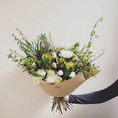 FRESH FLOWER BOUQUET F l o r a l S t y l i s t  (@pebbleanddot) Classic whites  greens Flower Packaging, Classic White, Fresh Flowers, Bouquets, Plants, Bouquet, Bouquet Of Flowers, Plant, Planets