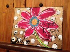 Arte de la flor por DesignsbyDarlaT en Etsy